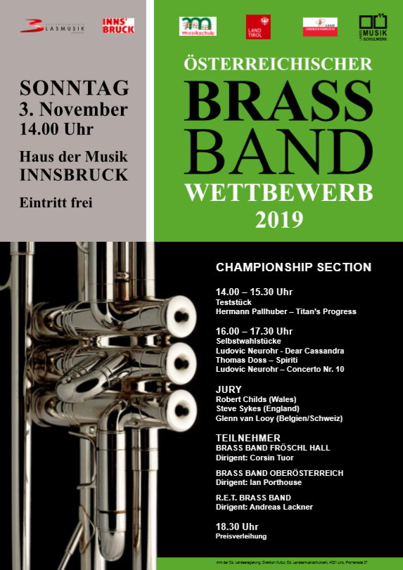 Österr. Brass Band Wettbewerb 2019 @ Haus der Musik Innsbruck